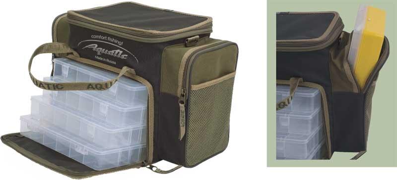 Сумка aquatic рыболовная ск-14 с коробками