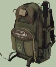 Рыболовный рюкзак объёмом около 40 литров.